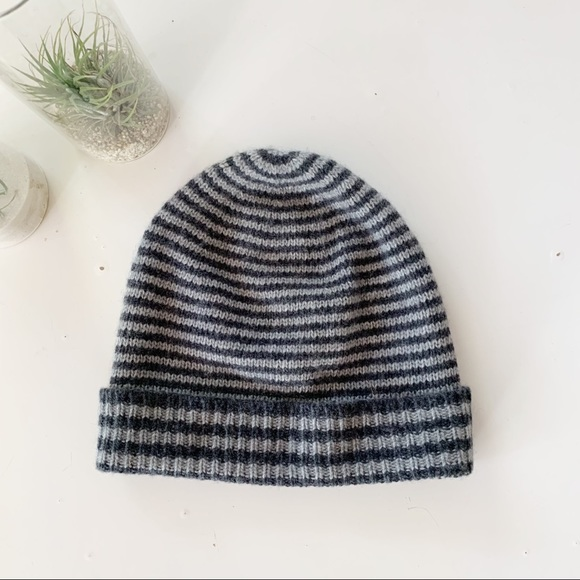 J.Crew Striped Wool and Cashmere Beanie